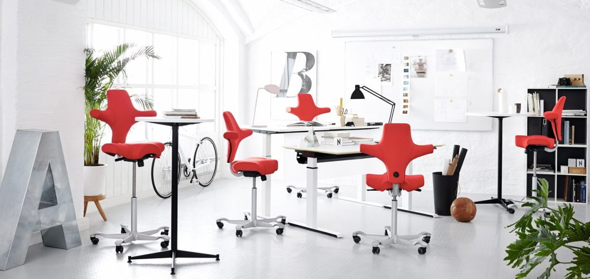 Red Capisco chairs